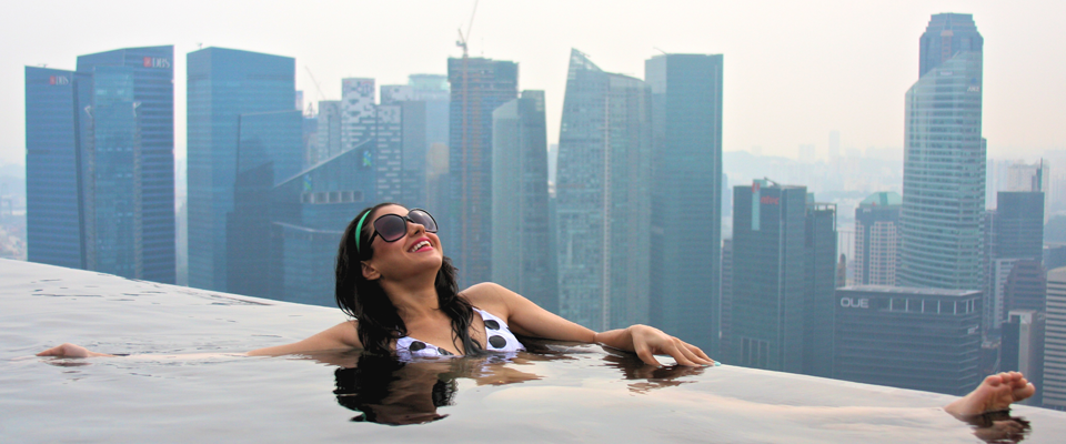 Swimming On Top of the World in Singapore